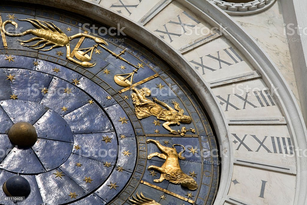 Astrological Clock Piazza San Marco Venice royalty-free stock photo