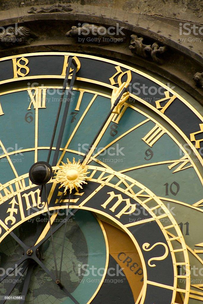 Astrological Clock royalty free stockfoto