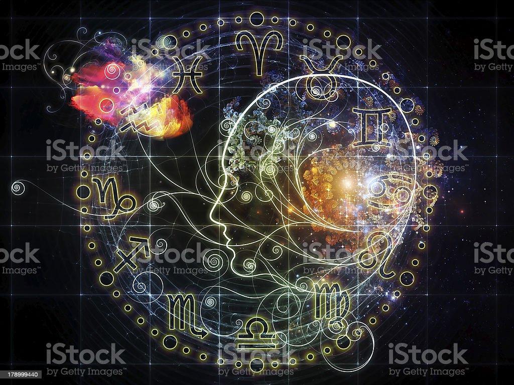 Astrological профиль стоковое фото