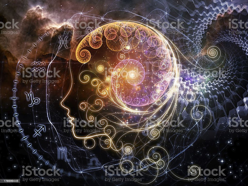 Astrological Profile stock photo