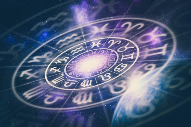 Astrologischen Tierkreiszeichen im Horoskop Kreis – Foto