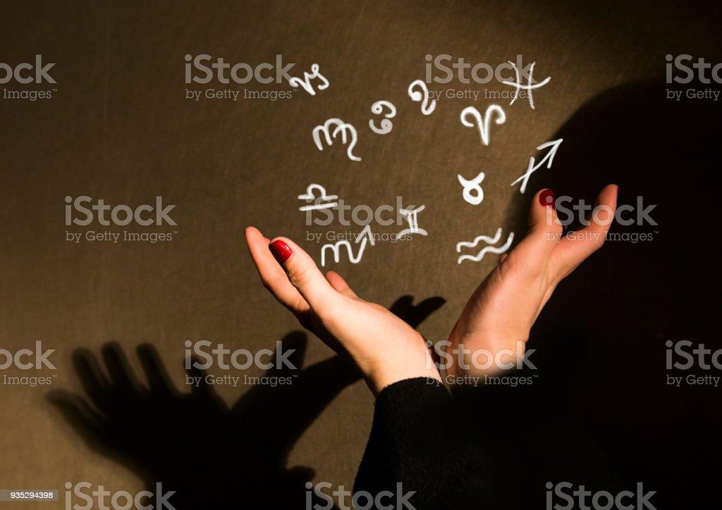 Astrological zodiac signs стоковое фото