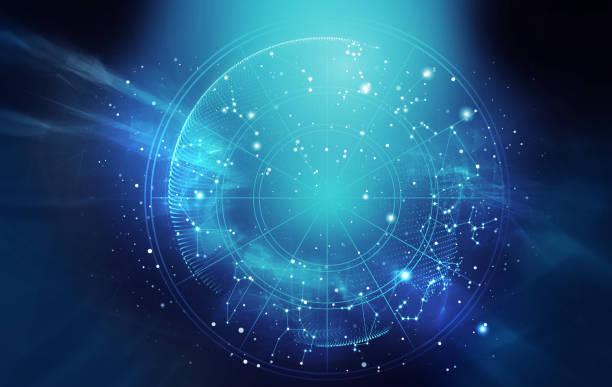 astrologie und alchemie zeichen hintergrund abbildung - mondhoroskop stock-fotos und bilder