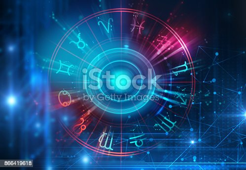 istock Astrology and alchemy sign background illustration 866419618
