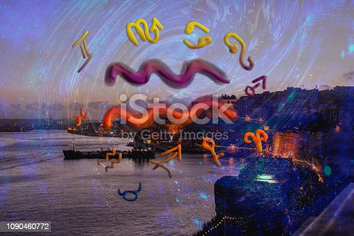 istock Astrology and zodiac signs, aquarius sign 1090460772