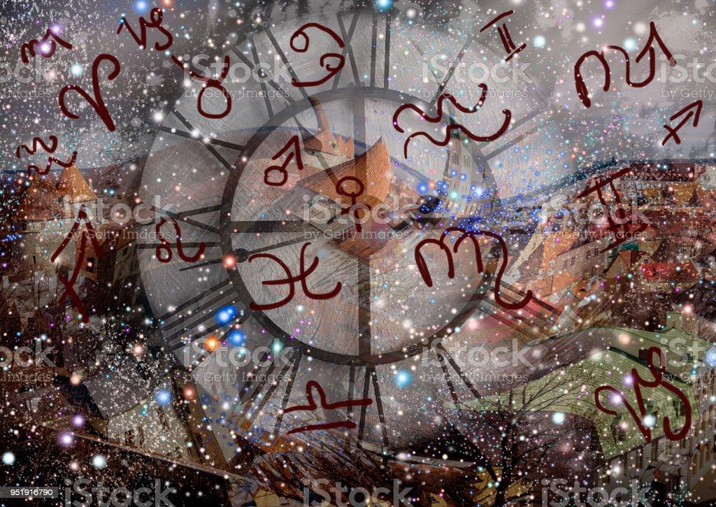 Astroloji ve zodyak işaretleri stok fotoğrafı