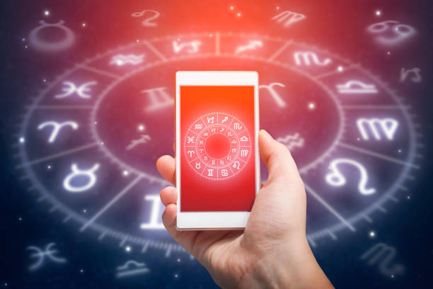 Astrology app stock photo