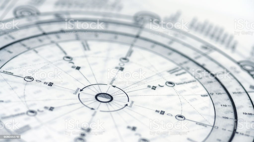 Astrology Chart stock photo
