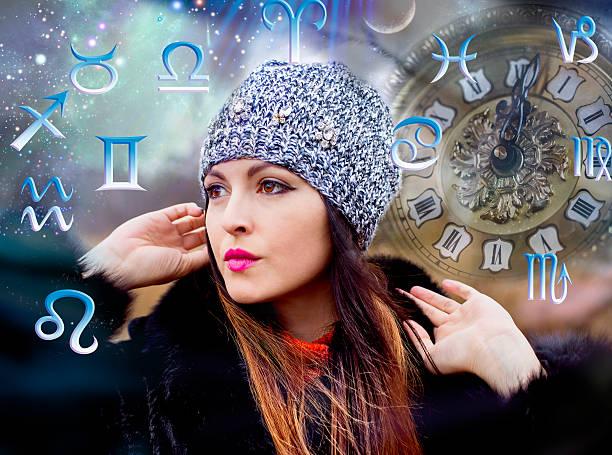 astrology, twelve zodiac signs - signes du zodiaque photos et images de collection