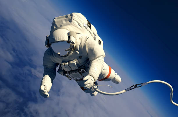 astronaut above the clouds - astronaut stock pictures, royalty-free photos & images