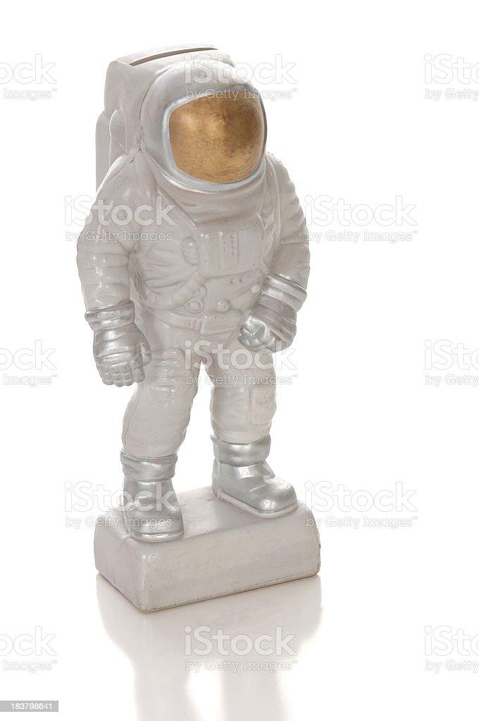 Astronaut Coin Bank stock photo