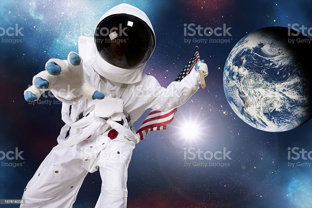 Astronaut: Deep Space Exploration stock photo