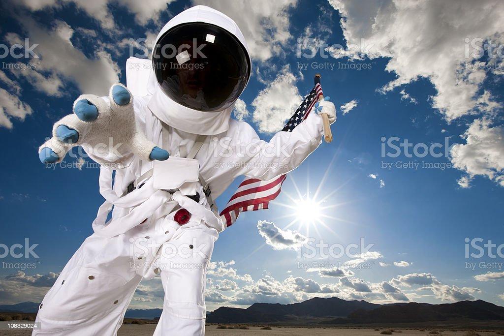 Astronaut Exploration stock photo