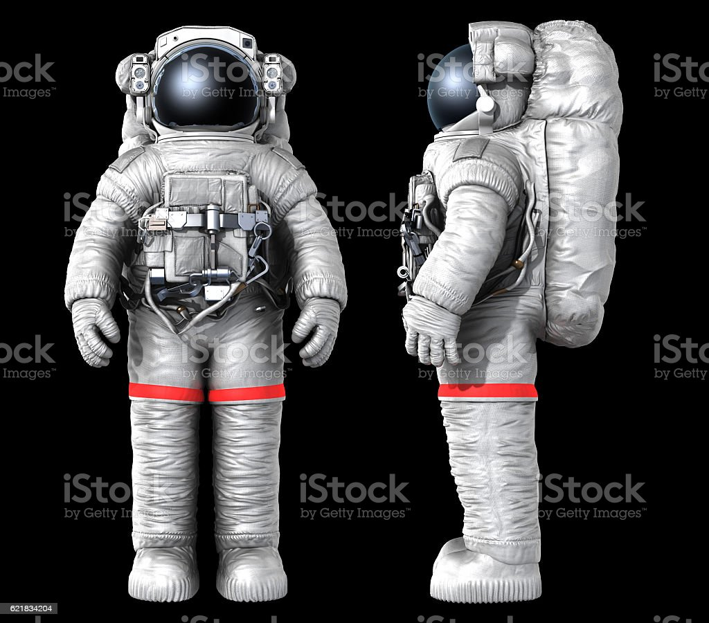 Astronaut, image with a work path stock photo