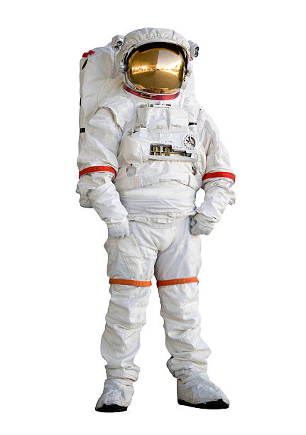 Astronaut in a space suit stock photo