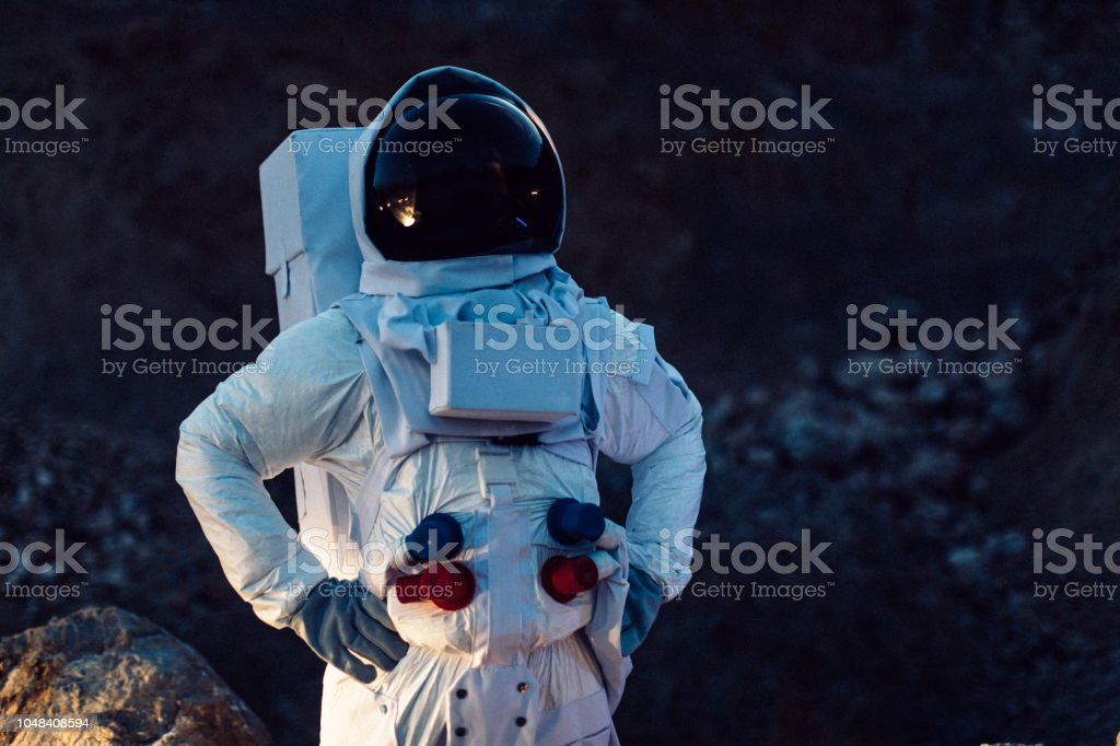 Astronaut in Outer Space - foto stock