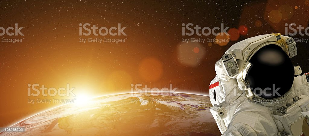Astronaut In Space royalty-free stock photo