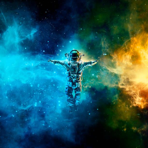 astronauta no espaço  - exploração espacial - fotografias e filmes do acervo