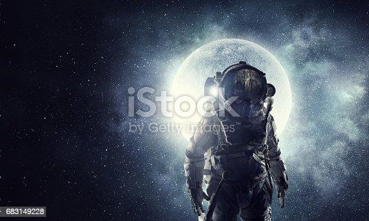 istock Astronaut in space suit 683149228
