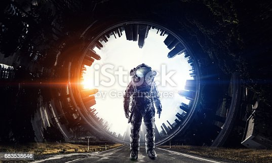 istock Astronaut in space suit 683538646