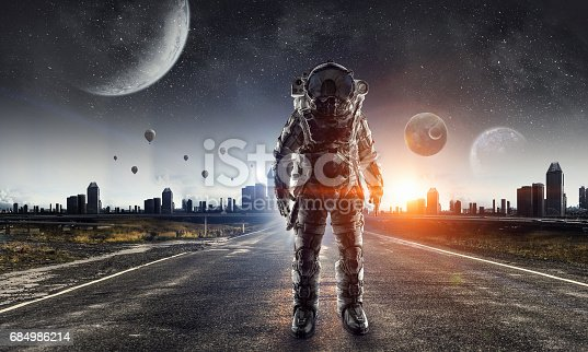 istock Astronaut in space suit 684986214
