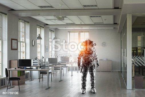 istock Astronaut in space suit 801759106