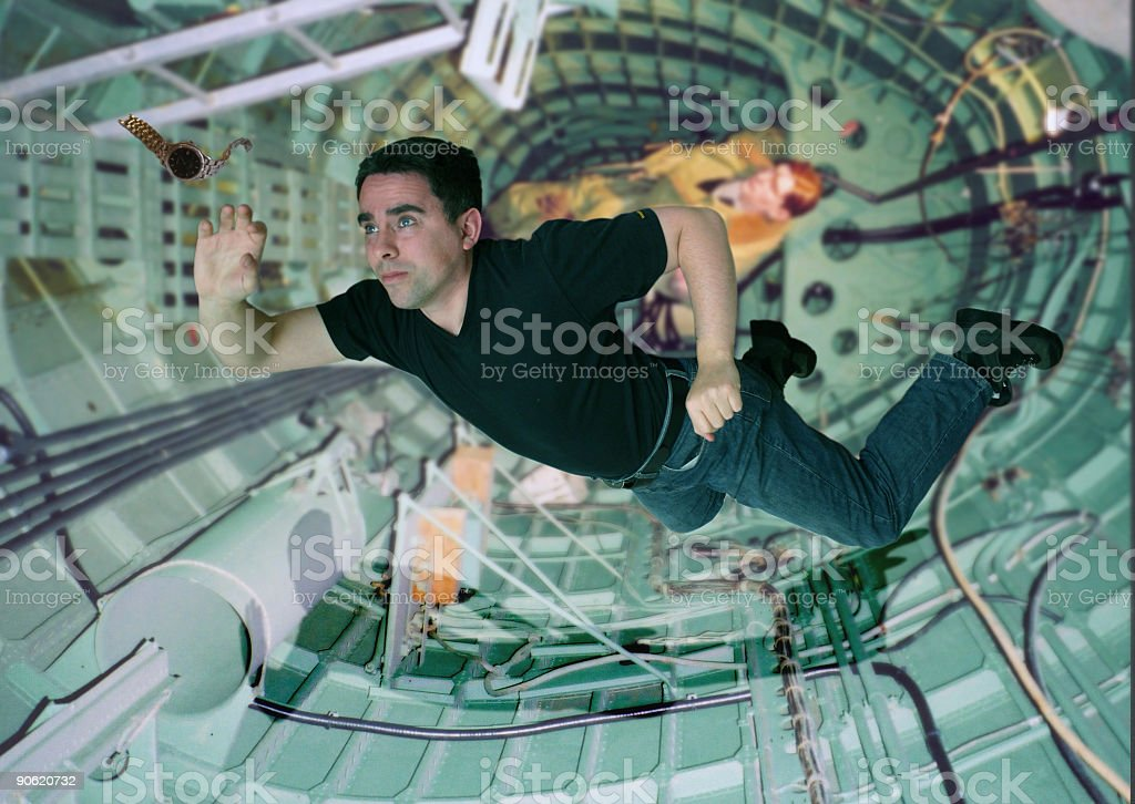 Astronaut in training stock photo