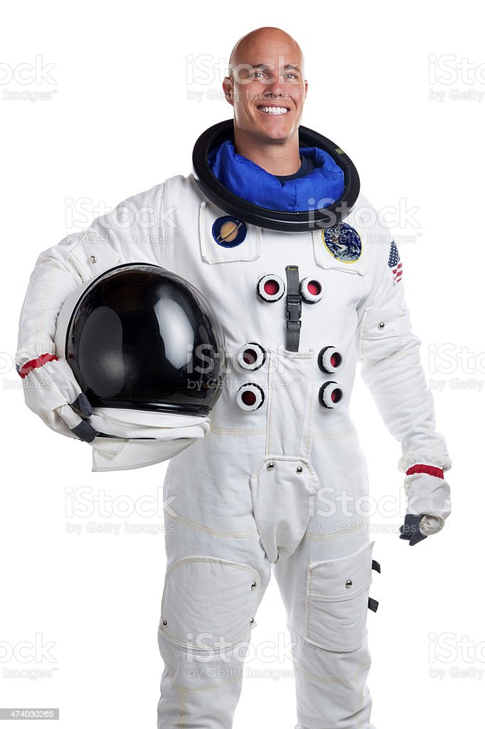 Astronaut Isolated on White stock photo