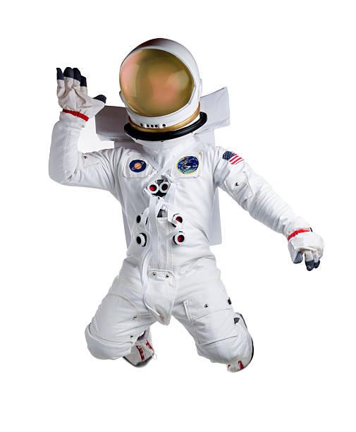 Astronaut Isolated on White stock photo
