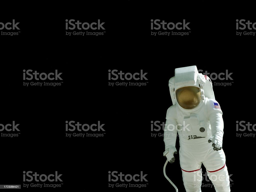 Astronaut on Black stock photo