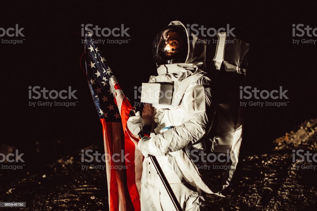 US astronaut on Mars - Royalty-free Abandoned Stock Photo