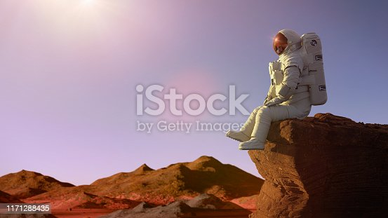 spaceman on the red planet