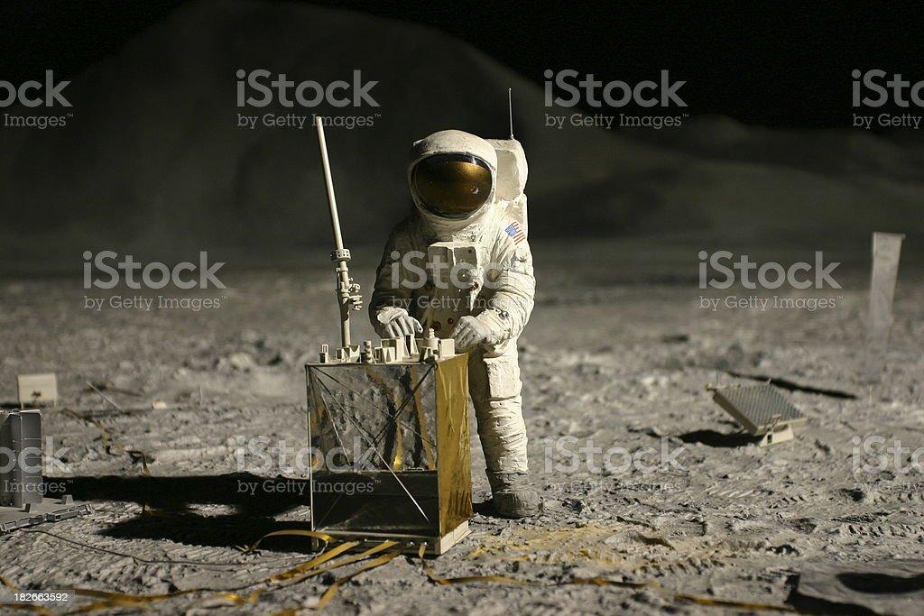 astronaut on the moon royalty-free stock photo