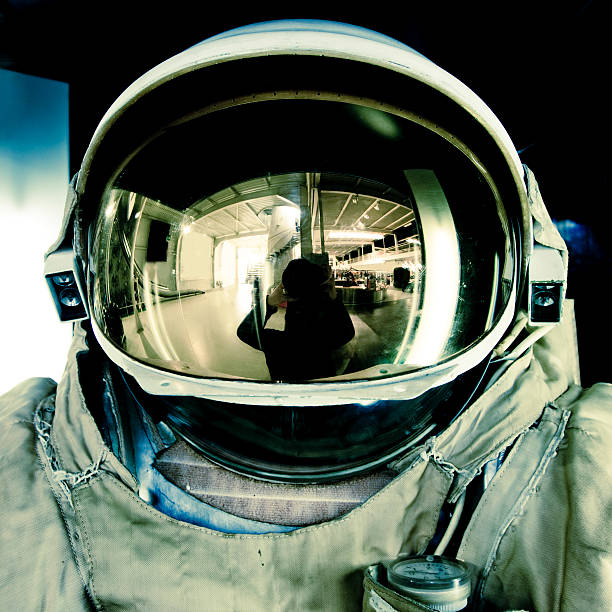 astronaut - helmet visor stock photos and pictures