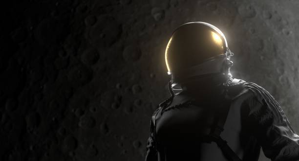 Astronaut Space Black Background stock photo