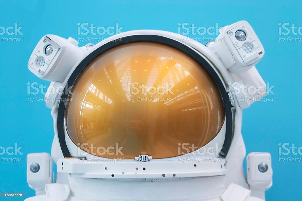 Astronaut space helmet with visor stock photo