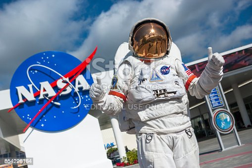istock Astronaut suit in Cape Canaveral Florida USA 854226164
