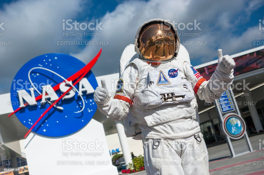 Astronaut suit in Cape Canaveral Florida USA stock photo