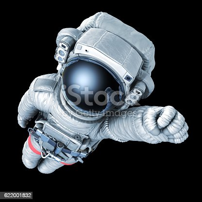 istock Astronaut superman, image with a work path 622001832