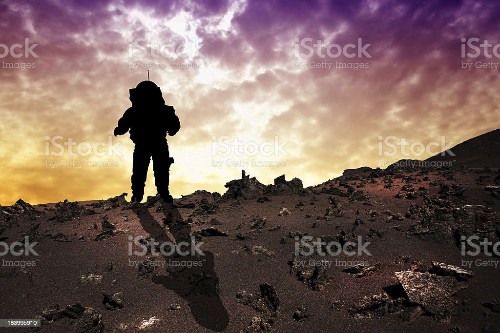 Astronaut to Mars stock photo