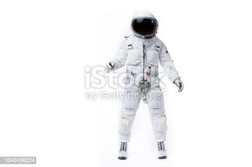 front facing astronaut white background