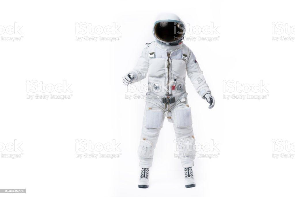 astronaut white background stock photo