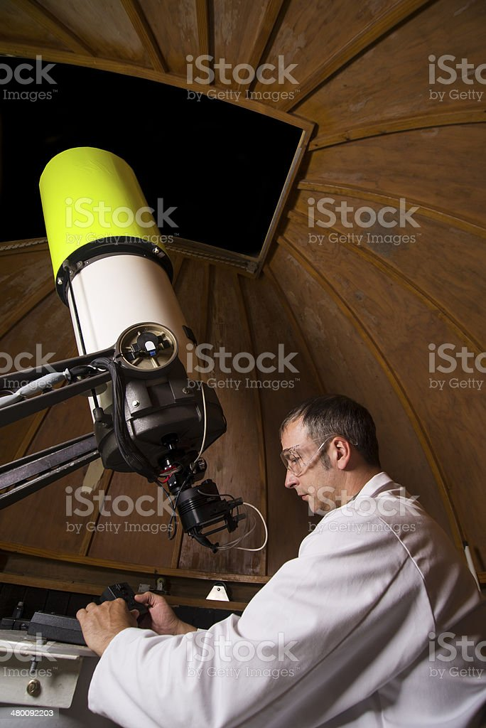 Astronomer stock photo
