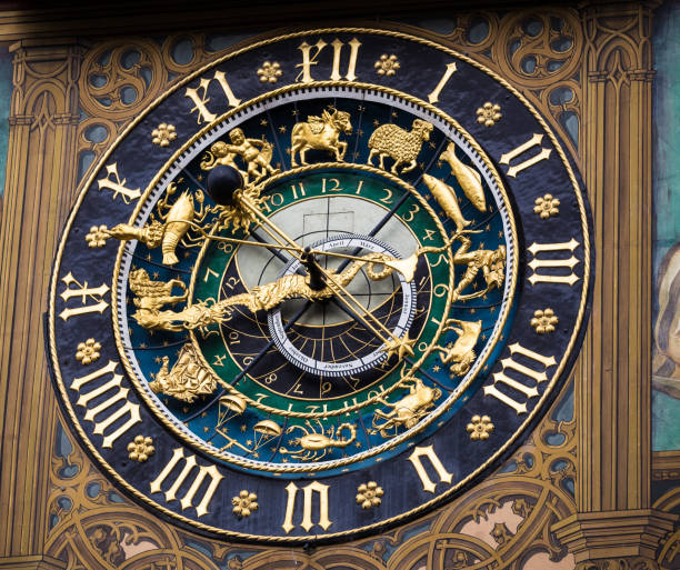 Astronomic Clock at the Town Hall of Ulm, Danube Astronomic Clock at the Town Hall of Ulm, Danube ulm stock pictures, royalty-free photos & images