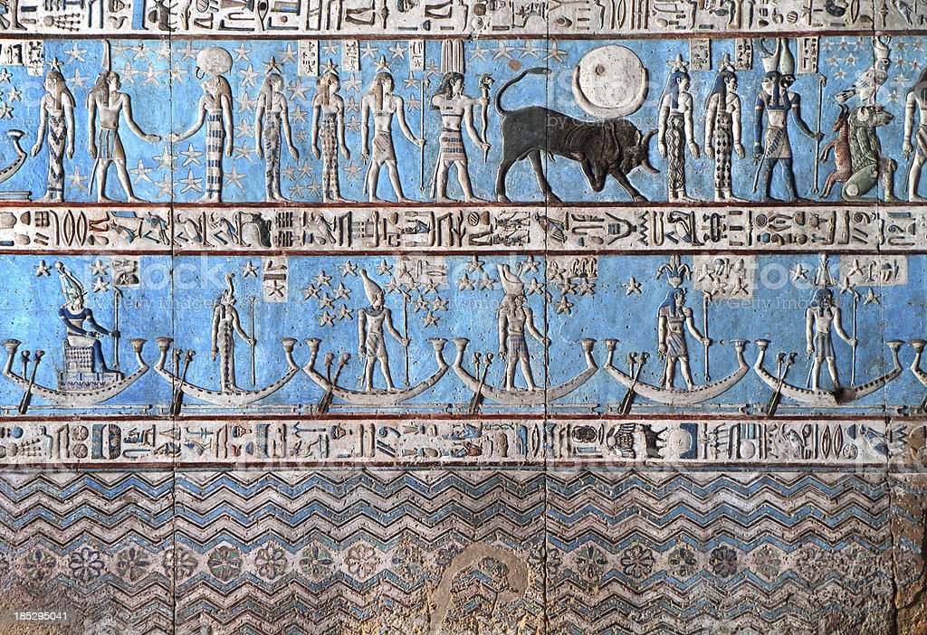 Astronomical Ceiling, Temple of Hathor Dendera, Egypt stock photo