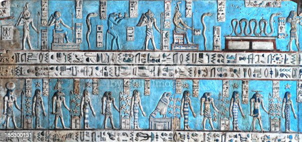 istock Astronomical Ceiling, Temple of Hathor Dendera, Egypt 185300131