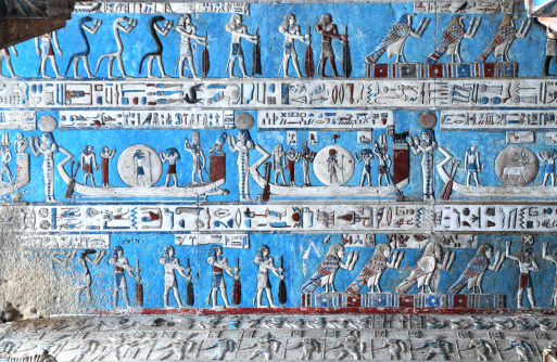 Astronomical Ceiling, Temple of Hathor Dendera, Egypt