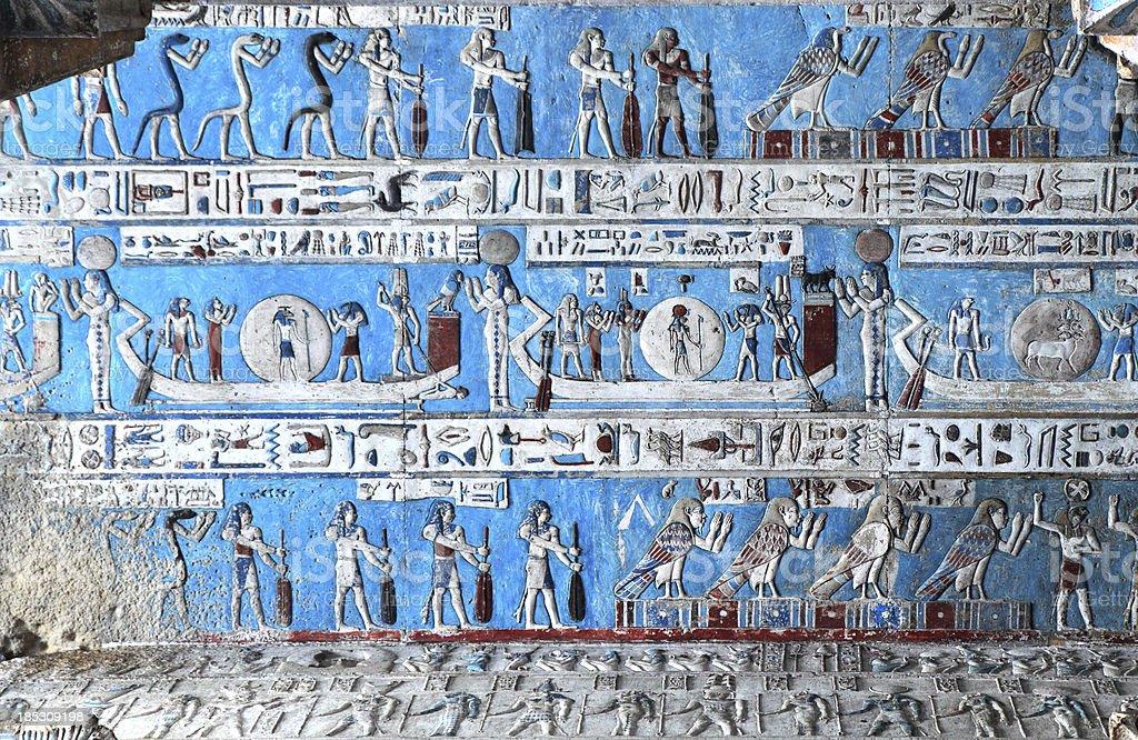 Astronomical Ceiling, Temple of Hathor Dendera, Egypt stock photo