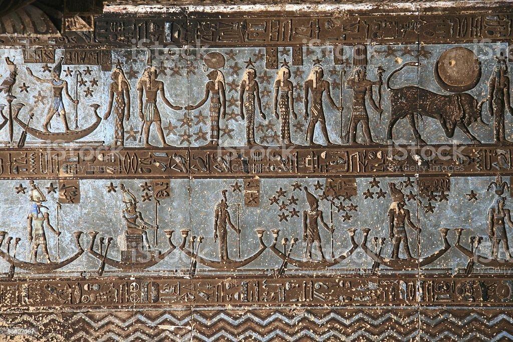 Astronomical Ceiling, Temple of Hathor, Dendera Egypt stock photo