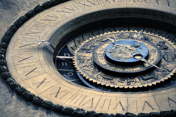 Astronomical clock at Mantua  astronomical clock stock pictures, royalty-free photos & images